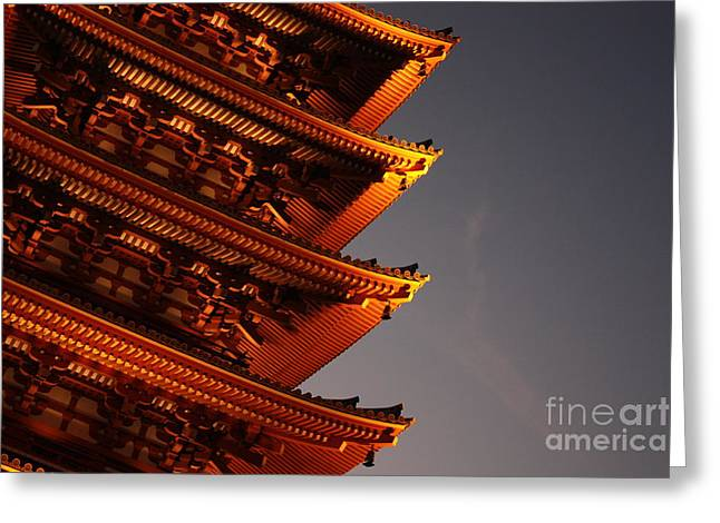 Temple Lights Greeting Card by Carol Groenen