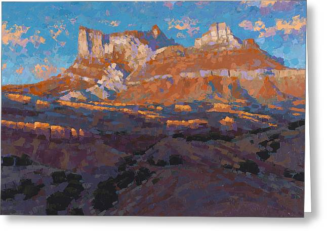 Temple Mountain Tapestry Greeting Card