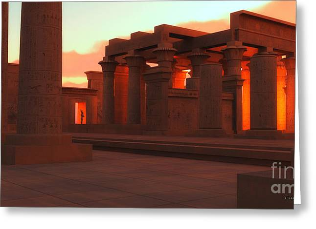 Temple Of Ancient Pharaohs Greeting Card by Corey Ford