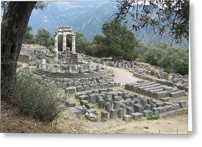 Temple Of Athena At Delphi Greeting Card