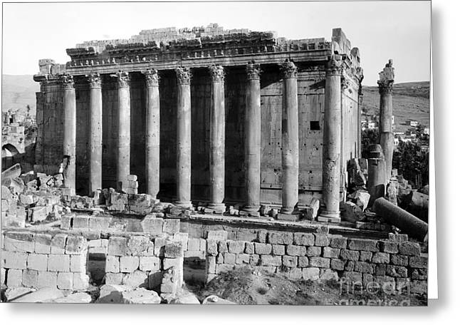 Temple Of Bacchus, Baalbek, Early 20th Greeting Card