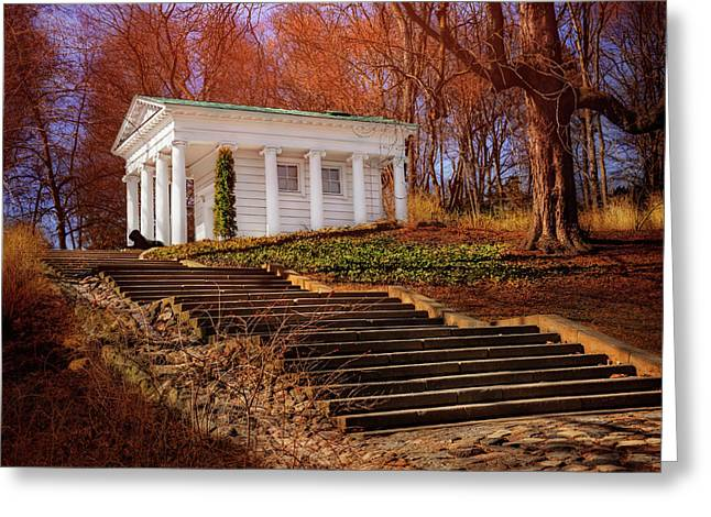 Temple Of Diana Lazienki Park Warsaw  Greeting Card