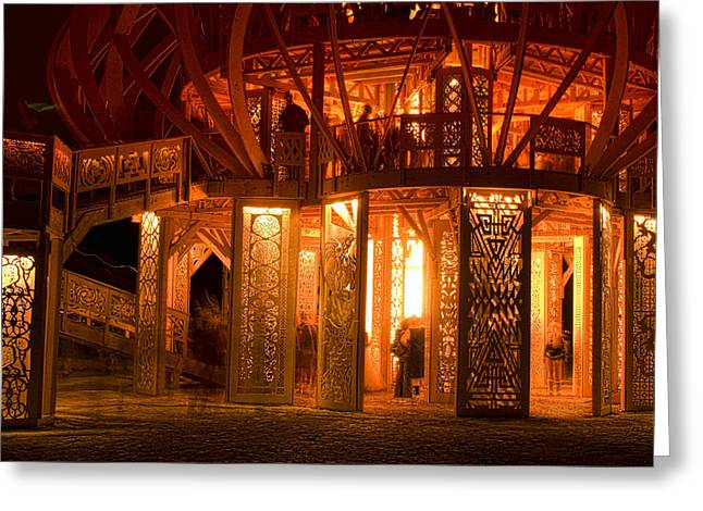 Greeting Card featuring the photograph Temple Of Fire by Michael Cleere