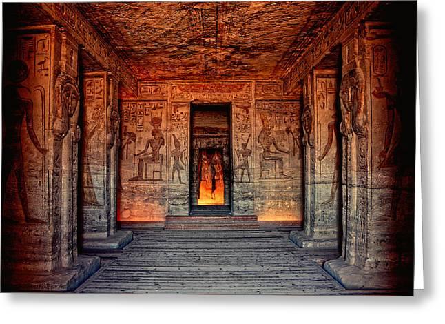 Temple Of Hathor And Nefertari Abu Simbel Greeting Card
