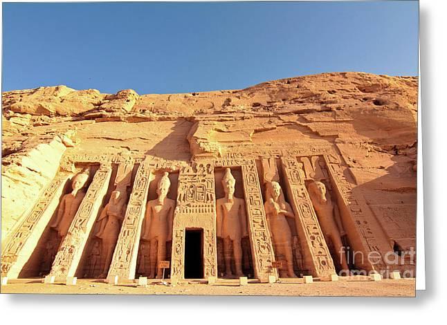 Temple Of Hathor/nefertari Greeting Card