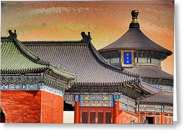 Temple Of Heaven Greeting Card by Dennis Cox ChinaStock