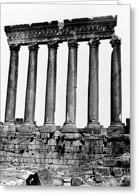 Temple Of Jupiter Colonnade, Baalbek Greeting Card
