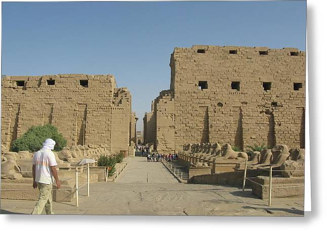 Temple Of Karnak At Egypt, No. 4 Greeting Card by Ayman Alenany