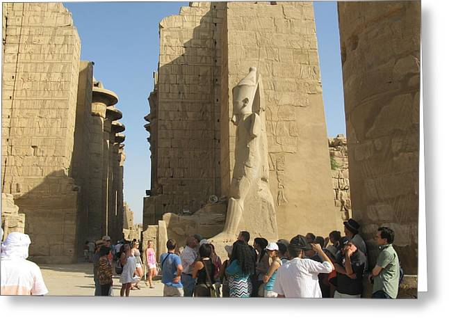 Temple Of Karnak At Egypt, No. 5 Greeting Card by Ayman Alenany