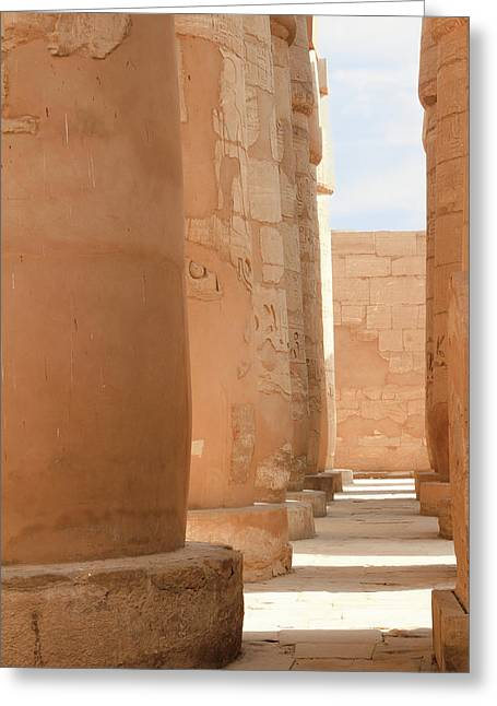 Greeting Card featuring the photograph Temple Of Karnak by Silvia Bruno