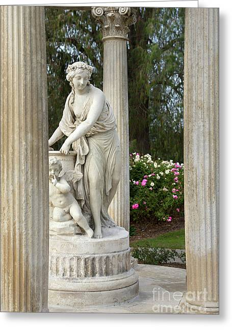 Temple Of Love Statue At The Rose Garden Of The Huntington Libra Greeting Card by Jamie Pham
