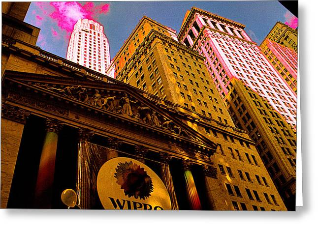 Temple Of Money - New York Stock Exchange Greeting Card