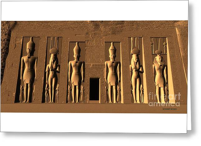 Temple Of Nefertari Greeting Card by Corey Ford