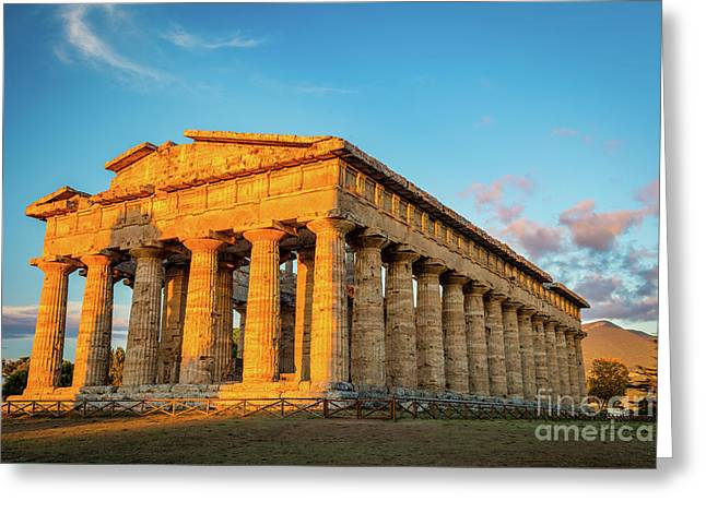 Temple Of Neptune Greeting Card by Inge Johnsson
