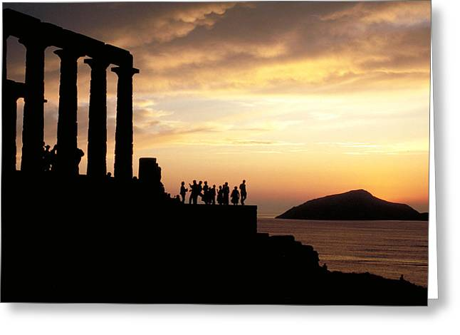 Temple Of Poseiden In Greece Greeting Card