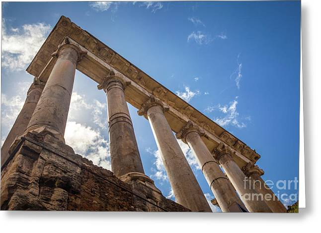 Temple Of Saturn Greeting Card by Inge Johnsson