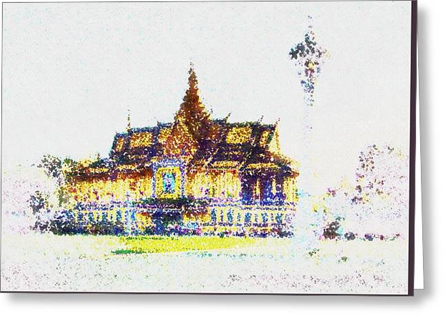 Temple Of The Buddha Greeting Card