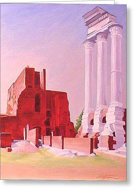 Temple Of The Castors In The Roman Forum Greeting Card by Gary  Hernandez
