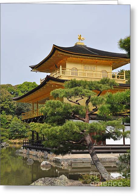 Temple Of The Golden Pavilion Greeting Card by Stevyn Llewellyn