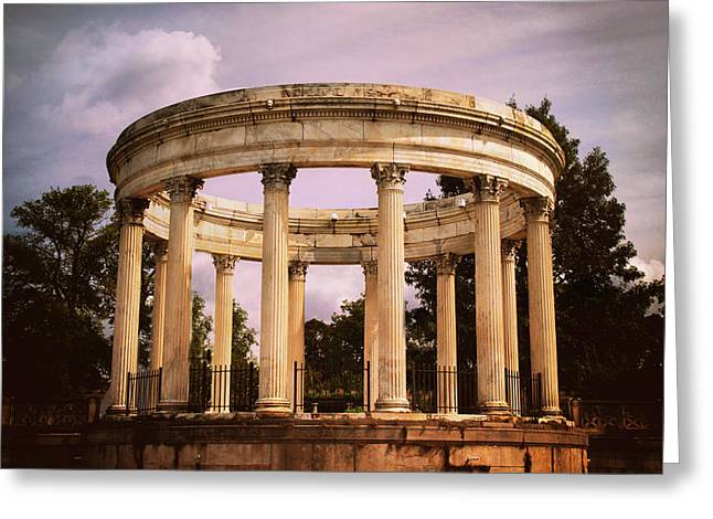 Temple Of The Sky Amphitheater Greeting Card