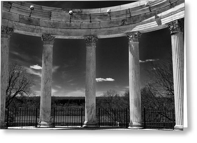 Temple Of The Sky Monochrome Greeting Card