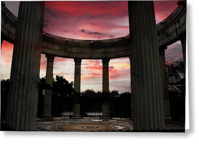 Temple Of The Sky Sunset Greeting Card by Jessica Jenney