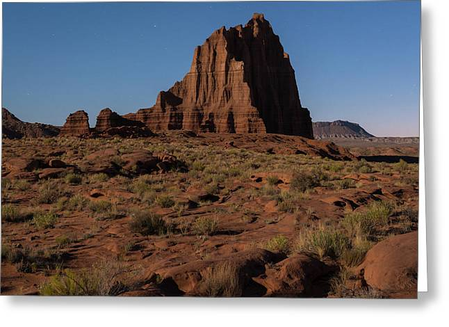 Temple Of The Sun Before Dawn Greeting Card by James Udall