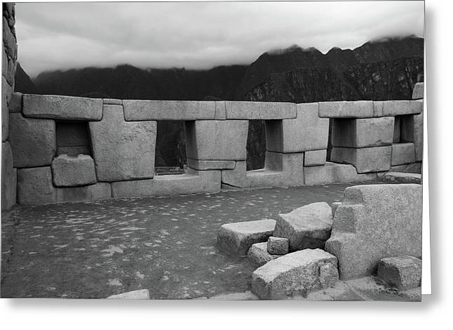 Temple Of The Three Windows Greeting Card by Aidan Moran