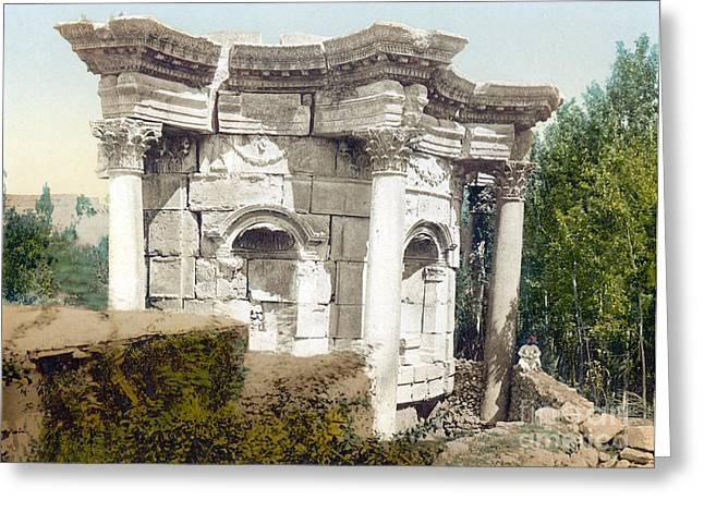 Temple Of Venus, Baalbek, 1890s Greeting Card