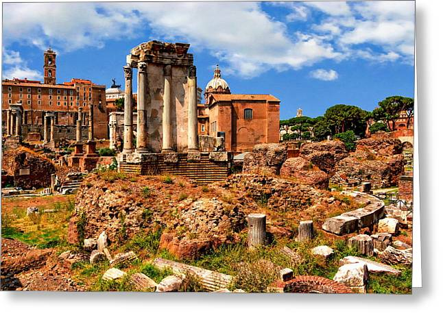 Temple Of Vesta Greeting Card by Anthony Dezenzio