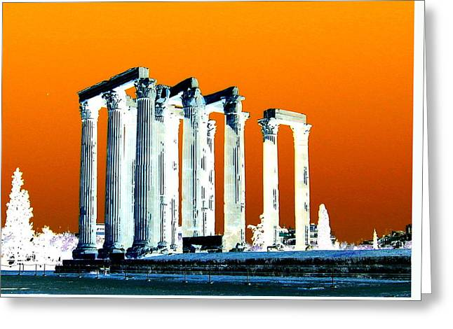 Temple Of Zeus, Athens Greeting Card