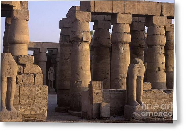 Temple Ruins At Karnak, Luxor, Egypt Greeting Card