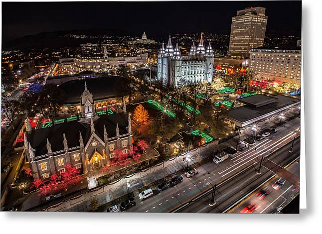 Temple Square Christmas Greeting Card
