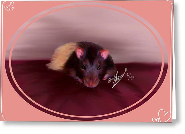 Templeton The Pet Fancy Rat Greeting Card