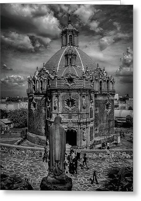 Templo Del Pocito - Mexico Bnw Hdr Greeting Card