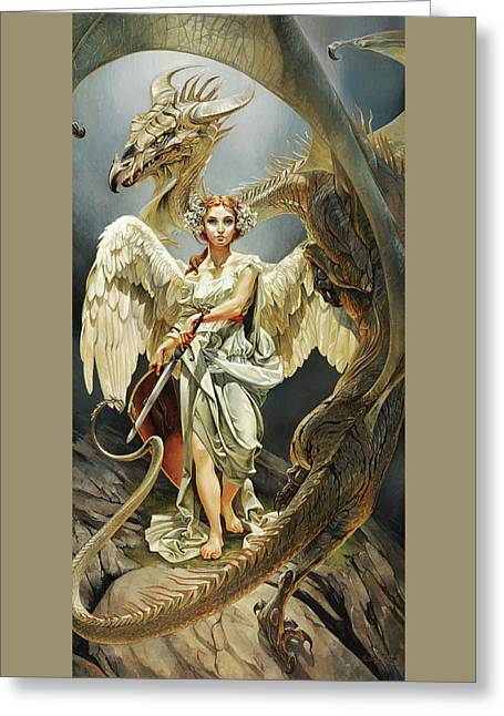 Temptation Greeting Card by Heather Theurer