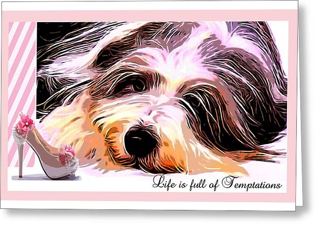 Temptation Greeting Card