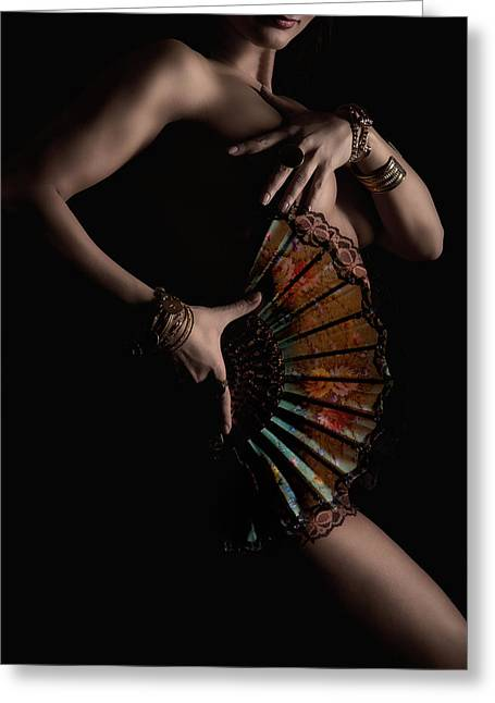 Jewelery Greeting Cards - Temptress Greeting Card by Naman Imagery