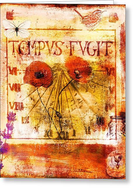 Tempus Fugit Greeting Card by Jude Reid