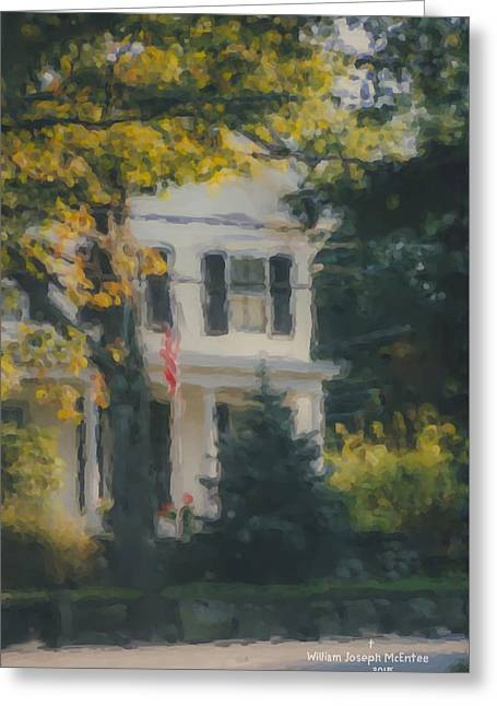 Ten Lincoln Street, Easton, Ma Greeting Card