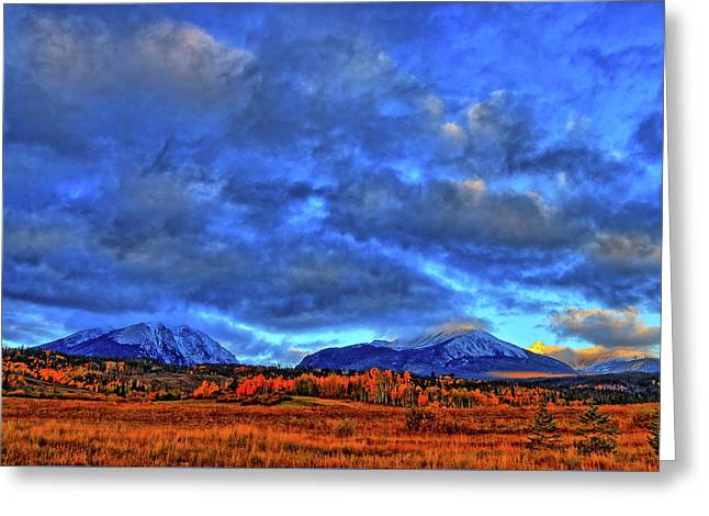 Greeting Card featuring the photograph Ten Mile Of Fall Colors by Scott Mahon