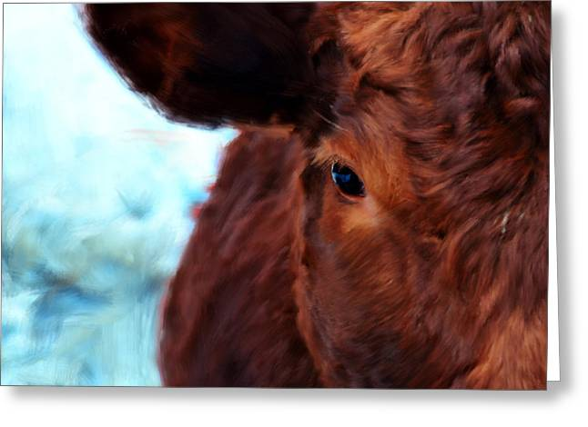Ten Minute Cow Portrait Greeting Card by Bruce Nutting