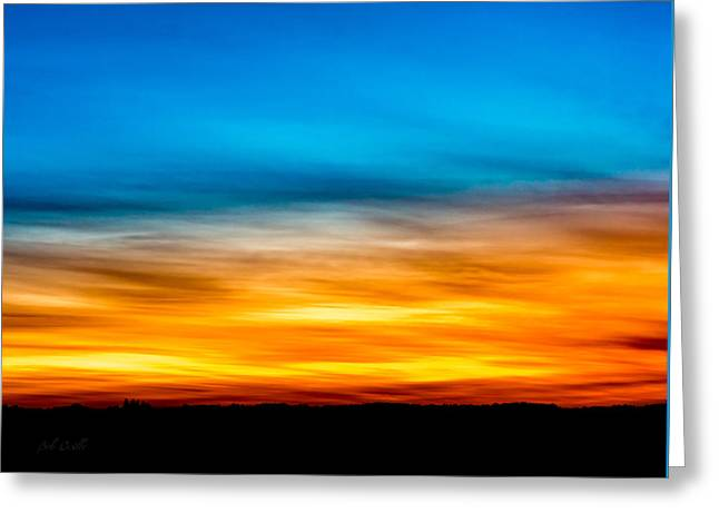 Ten Past Sunset Greeting Card by Bob Orsillo