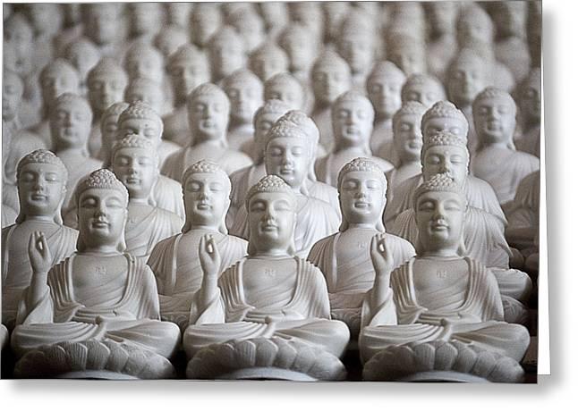 Ten Thousand Buddhas Greeting Card by Patricia Bolgosano