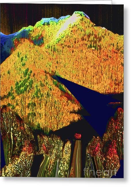 Ten Thousand Trees Sun Descending Greeting Card