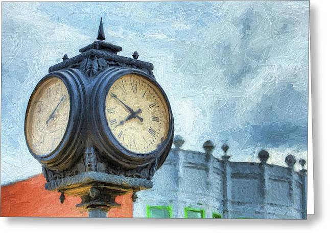Ten Till Eight Greeting Card by JC Findley