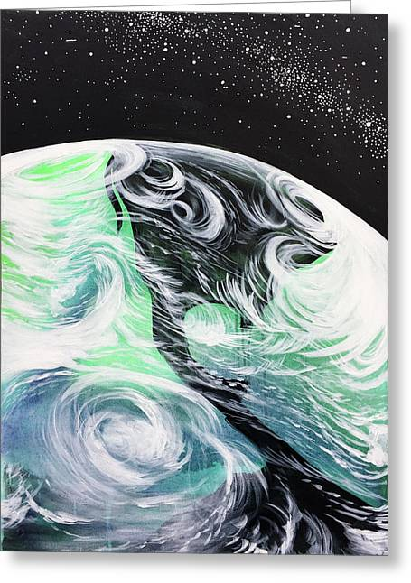 Greeting Card featuring the painting Tenaciously Mindful by Nathan Rhoads