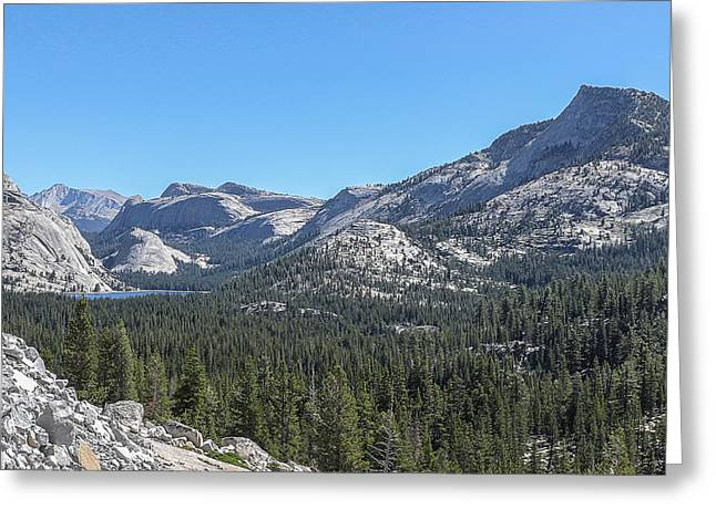 Tenaya Lake And Surrounding Mountains Yosemite National Park Greeting Card