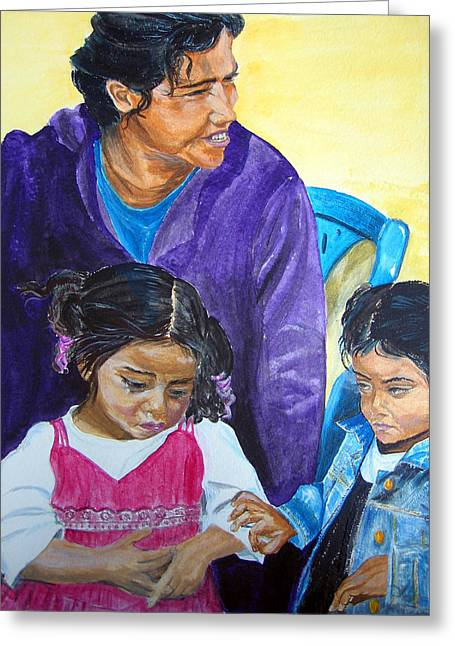Tender Moment Of Compassion Greeting Card by Sarah Hornsby