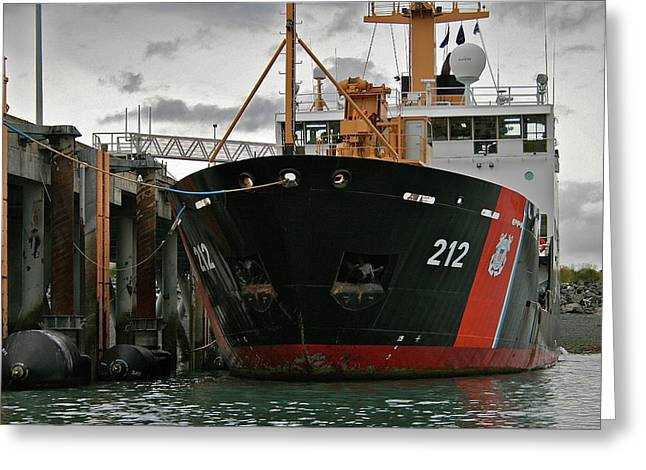 Uscg Greeting Cards - Tender Greeting Card by Rick  Monyahan